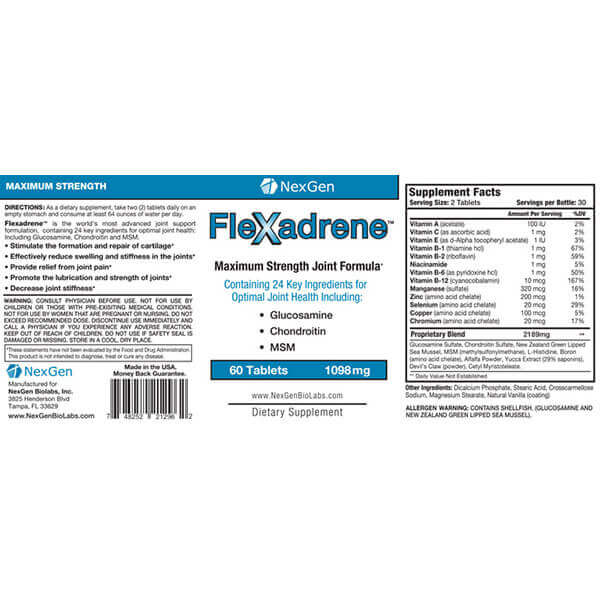 flexadrene reviews & ingredients