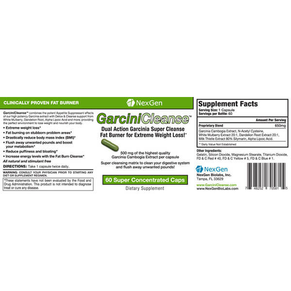 garcinicleanse reviews & ingredients