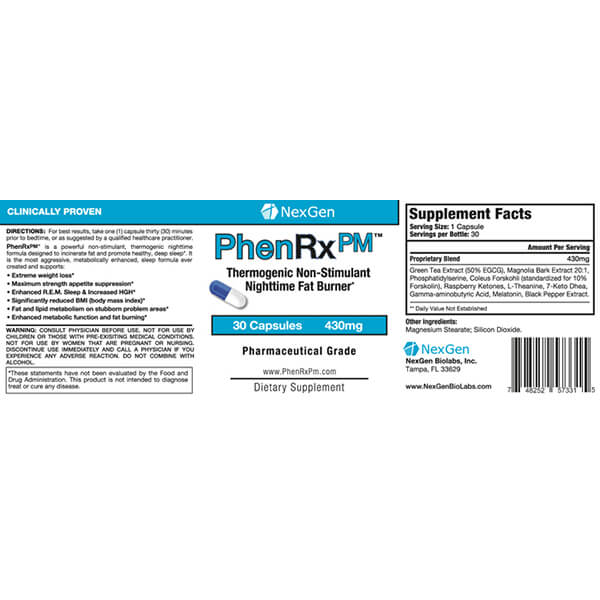 phenrx pm reviews & ingredients