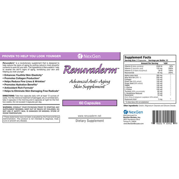 renuvaderm reviews & ingredients