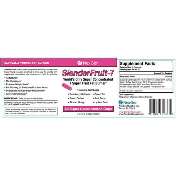 slenderfruit 7 reviews & ingredients