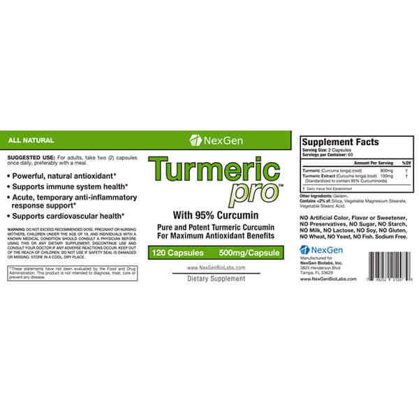 turmeric pro reviews & ingredients