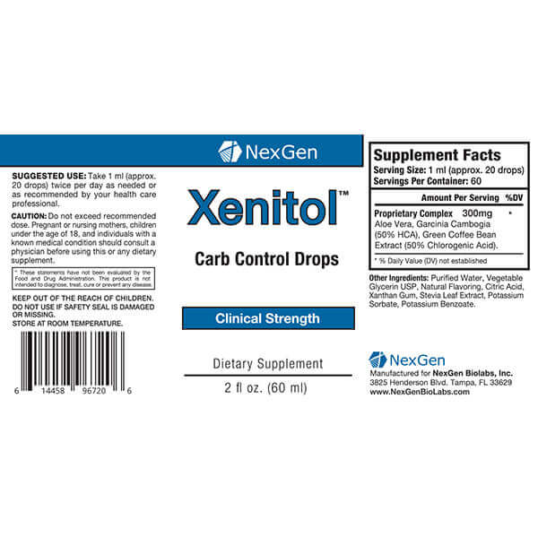 xenitol drops reviews & ingredients